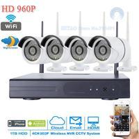 NEW 4CH 960P CCTV Security NVR 4PCS 1 3MP 1500TVL Wireless WIFI IP Camera Video Surveillance