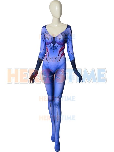 Custom Made Spandex Printing Superhero Costume Halloween Zentai Cosplay Bodysuit No Mask