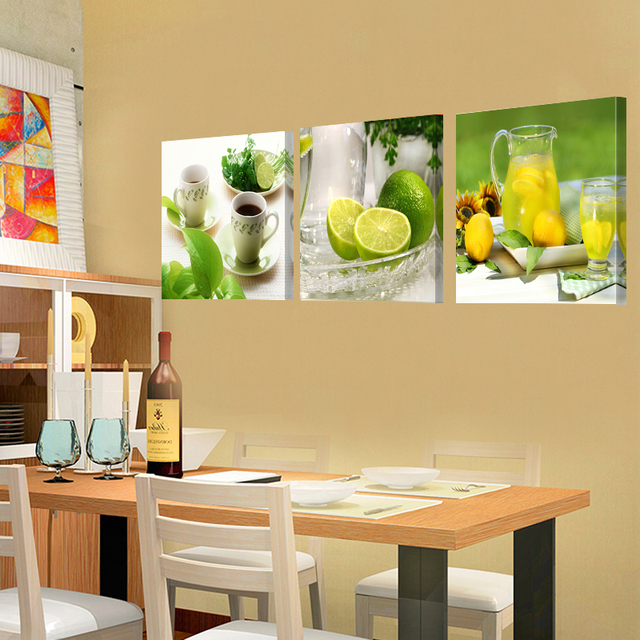 Prints Canvas Painting Dining Room Decorative Picture Canvas Paintings  Modern Flower Kitchen Wall Decor Pictures No
