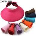CN-RUBR Новая Мода Женщины Sun Cap Леди Складной Roll Up Вс пляж Широкими Полями Соломы Visor Hat Cap Gorro Chapeu Большой Наполнянный До Краев шляпа