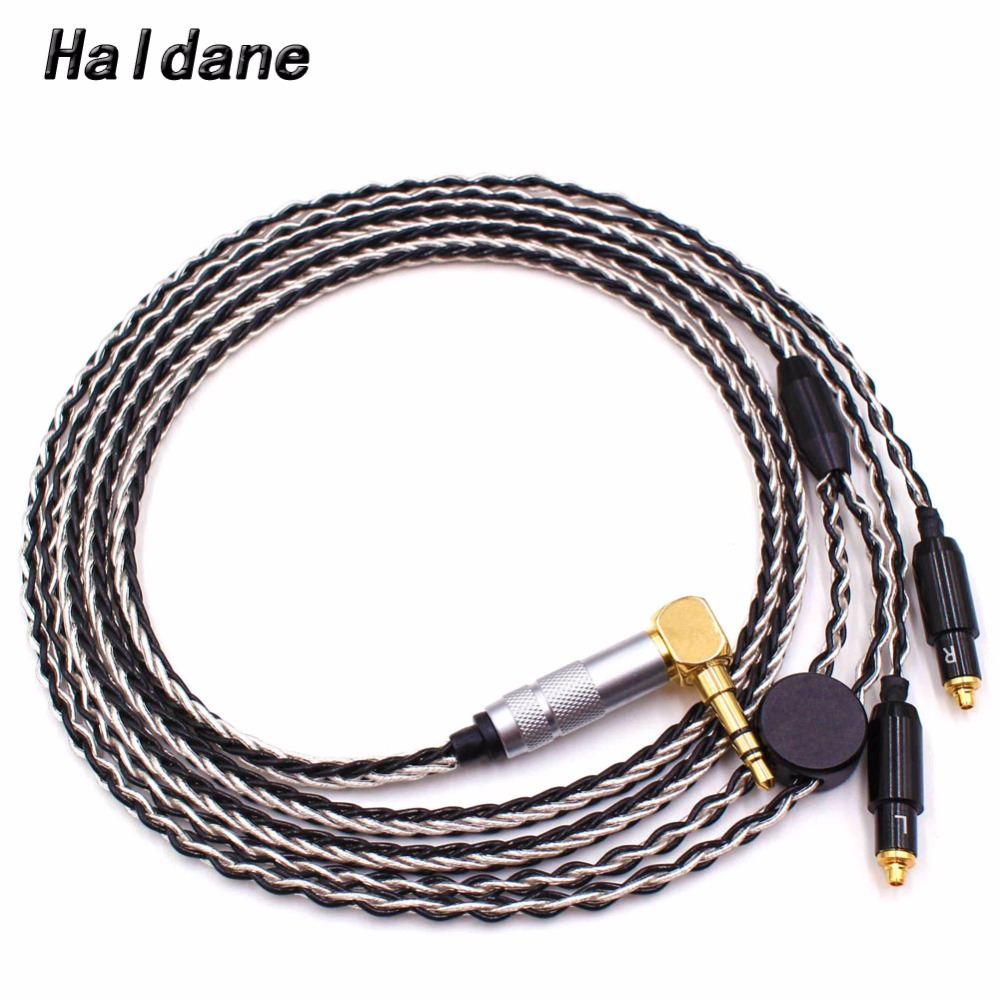 Free Shipping Haldane 1 2Meter DIY 8 Cores Headphone Upgrade Cable for SRH1440 SRH1840 SRH1540 Headphones