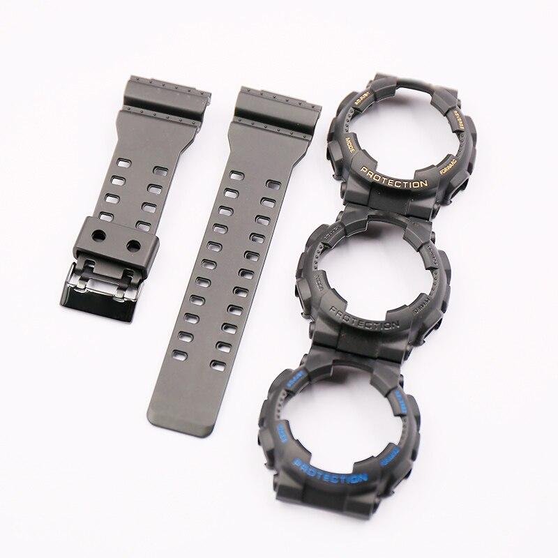 Watch Accessories Resin Watch Strap Case Suitable For Casio G-SHOCK GA/GD/GLS-100 110 120 Men's Or Women Sports Waterproof Strap