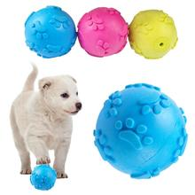 3 Color Teeth Bite Rubber Dog Cat Ball Products Interactive Pet Toys