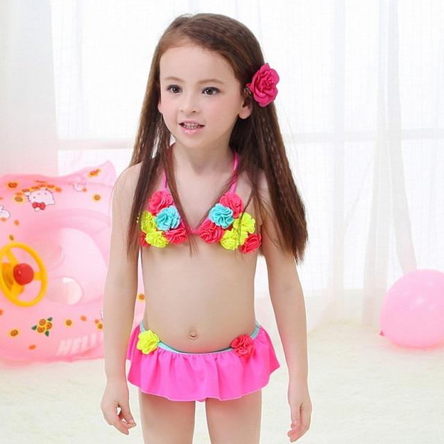 593bee3c6f860 Children's swimsuit girls flower bikini baby girl swimwear little girls  swim swimsuits for children girls swimming