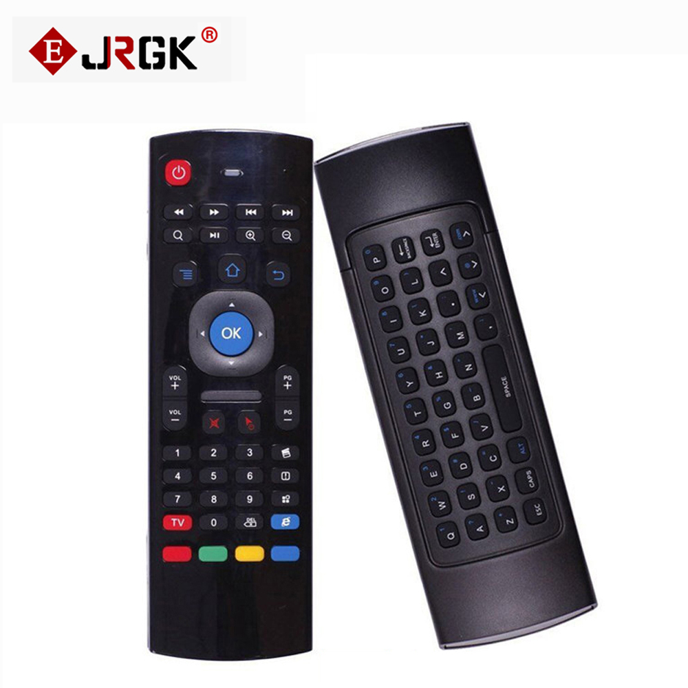 JRGK MX3 2.4G Wireless MX III TV box Remote Control Keyboard Remote Controller Air Mouse for mini PC HTPC Android MXQ original t2 air mouse 2 4g wireless mini keyboard 3d sense motion remote controller t2 air mouse for android smart tv box pc