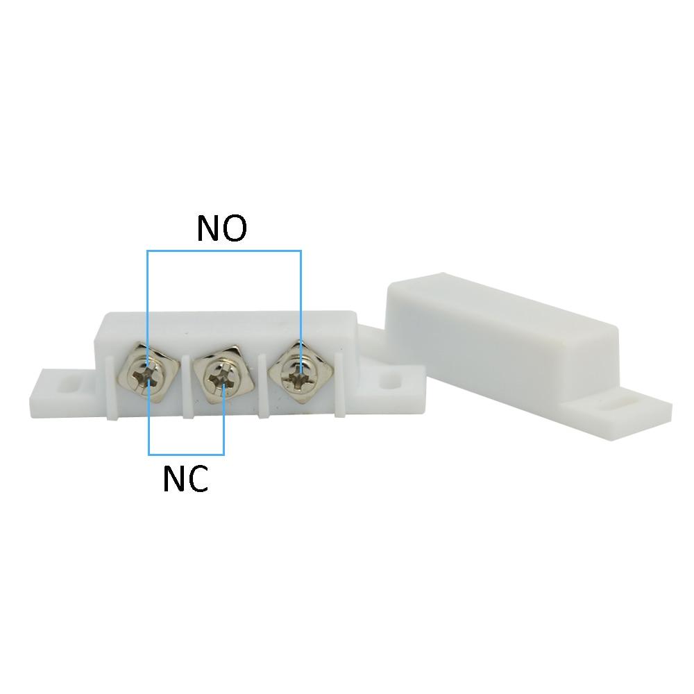 (10 PCS) Interruptor magnético de plástico con cable Puerta Ventana - Seguridad y protección