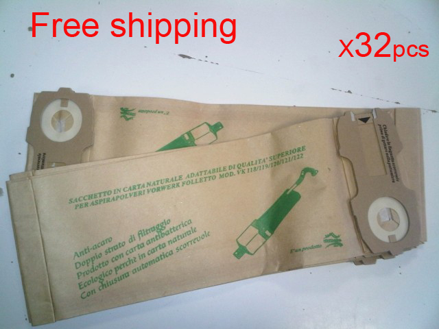 32 pcs/lot  hoover robot vacuum cleaner parts Dust Bags for VK118 VK119 VK120 VK121 VK122 Paper bag garbage bags Free shipping 5 pcs lot vacuum cleaner parts filter garbage bag paper dust bags for electrolux zw1100 e37 e39 z2570 e16 ingenio