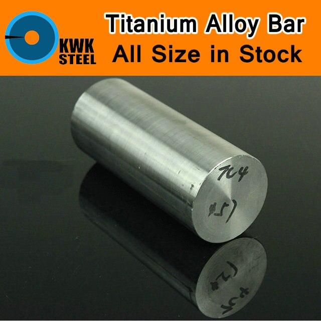 Titanium Alloy Bar UNS Gr5 TC4 BT6 TAP6400 Titanium Ti Round Bars Industry CNC Machine Use DIY Material Anti-corrosion Model 0 1x200x800mm titanium alloy strip uns gr5 tc4 bt6 tap6400 titanium ti foil thin sheet industry or diy material free shipping