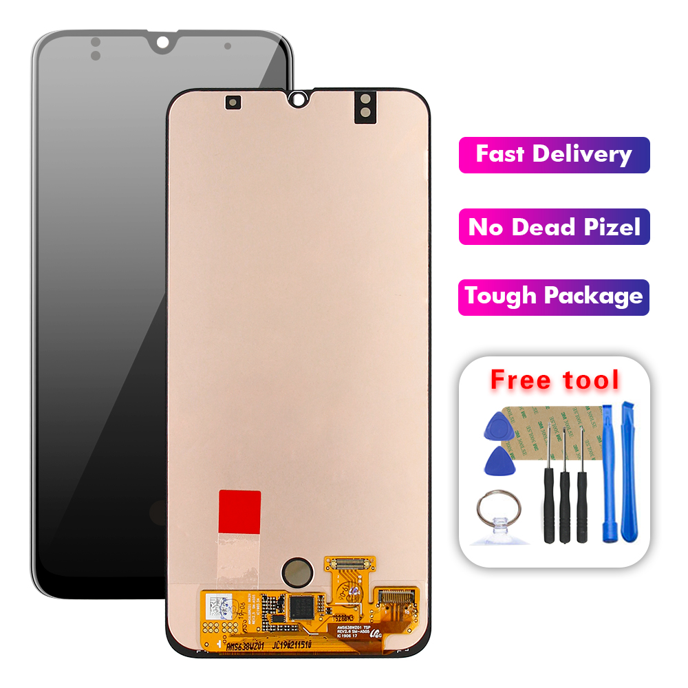 For Samsung Galaxy A50 A505 A505F/DS A505FD A505F A505A LCD Display Touch Screen Digitizer Glass Assembly + Frame