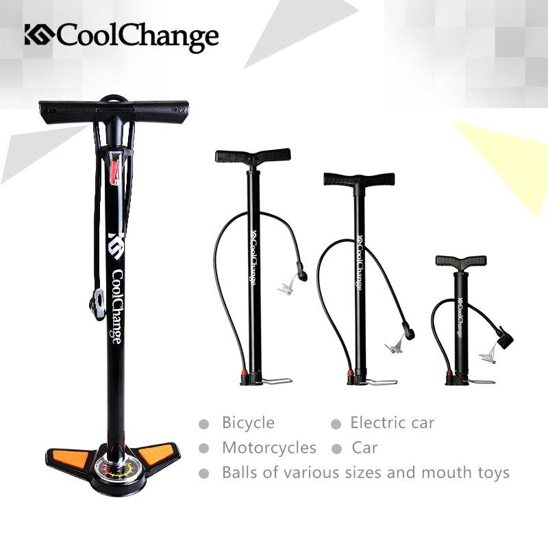 2017 Coolchange High Pressure Pump Bicycle Pump Electric cars Air Pump Cars Air Pump Free Shipping