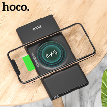 HOCO 10000mAh QI Wireless Charger Power Bank Dual USB with Digital Display External Battery Powerbank for iphone 8 X XS Max XR цена и фото