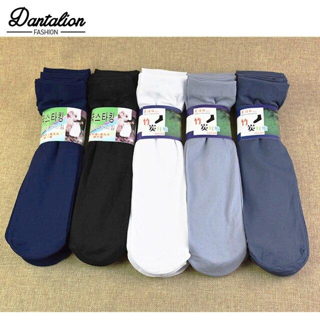 1 pcs dos homens finos Verão meias de alta elástica desgaste-resistente fresco seda gelo dos homens de negócios meias curtas