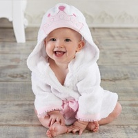 Hooyi princesa corona niños Bañeras recién nacido Mantas bebé Bañeras robe capucha Toallas de baño bebé cosas Terry pijamas abrigo