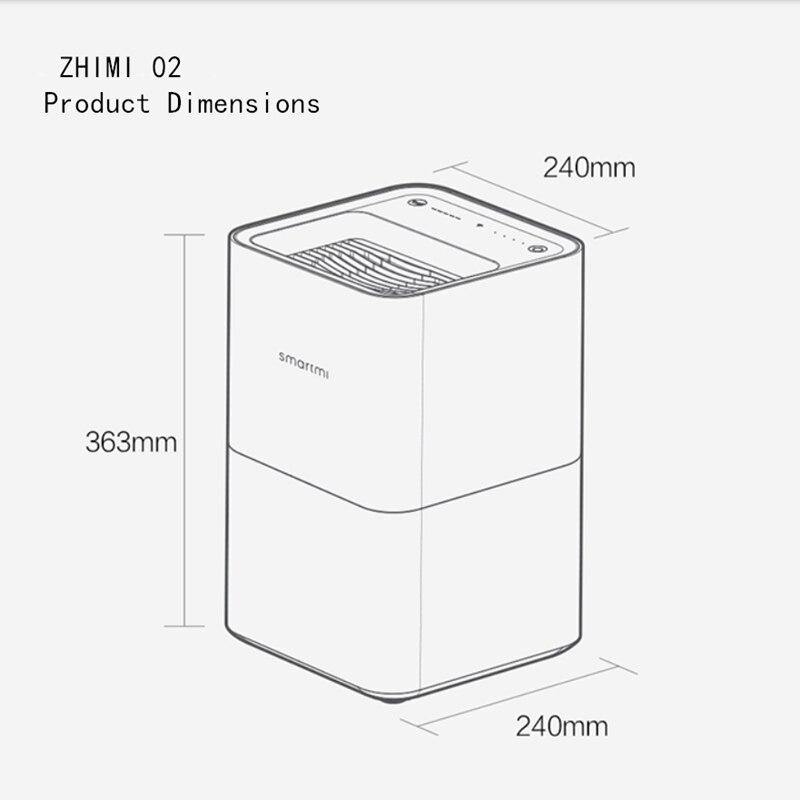XiaoMi SMARTMI Pur type Humidificateur App Contrôle du Smog-livraison Brouillard-livraison Pur S'évaporer fonctionnement Durable, pratique de nettoyage. - 4