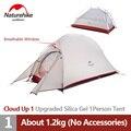 Палатка Naturehike Cloud Up1 туристическая Ультралегкая, 20D силиконовый алюминиевый полюс, Всесезонная, для 1 человека