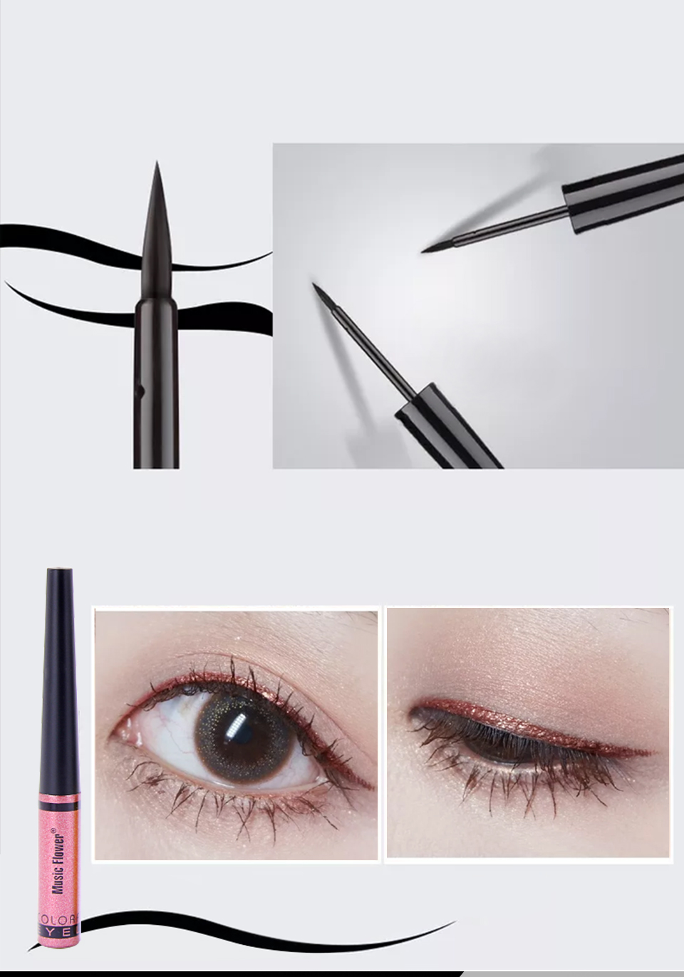 5 eyeshadow pencil glitter