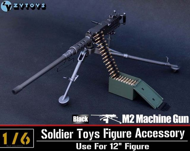 1/6 Scale ZY Toys Model US Army Browning M2 Machine Gun,Cal. .50, M2HB,Flexible Weapon Toys For Action Figure Accesssories