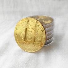 Украшение для дома ремесла монеты иностранных валют позолоченные монеты BTC Биткоин Коллекция Художественный подарок физический