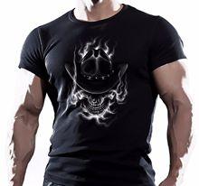 Western Uomo Dead Cowboy Skull T Shirt Horror Evil