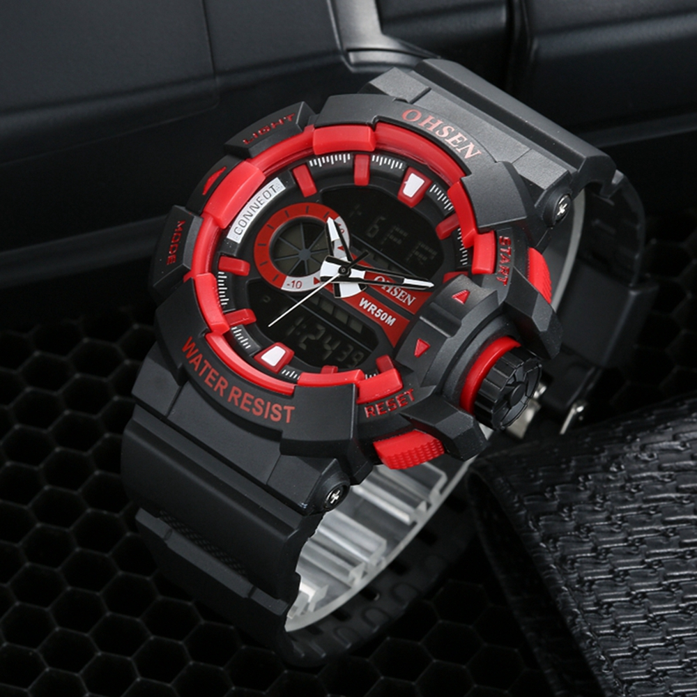 Mens Digital Watch OHSEN Fashion Casual Brand Quartz Mens Clock Army Male Sports Watches Man Wristwatch 50m Dive Reloj Masculino ohsen outdoor casual men sports watch waterproof fashion digital quartz military army male clock men s watches reloj relojes405