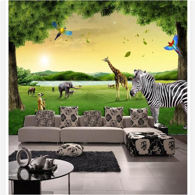 Forest animal photos promotion shop for promotional forest for Animal wall mural