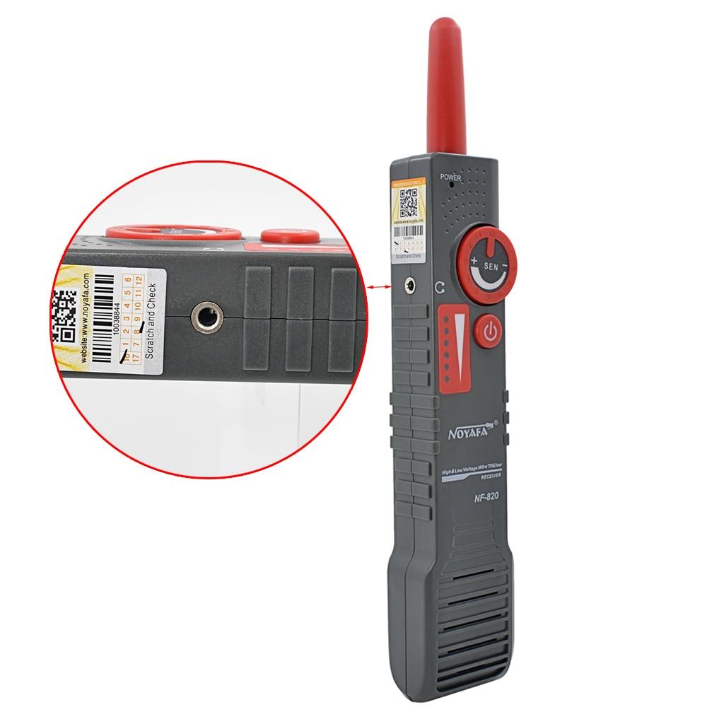 D'origine Noyafa NF-820 Haute & Basse Tension Ligne Trouveur Traqueur De Fil Diagnostiquer Ton Outil Kit LAN Testeur De Câble Réseau - 4