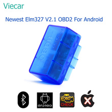 Viecar Elm327 V2.1 OBD2 Bluetooth Adapter Car Diagnostic Scan Tool Elm 327 OBD Diagnostic Scanner For Cars Suitable For Android