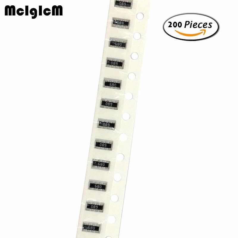 MCIGICM 200pcs SMD Exclusion 0402 Array 8P4R 2*4P Network Resistor Array 0 Ohm ~ 910 Ohm , 1K Ohm ~ 910K Ohm