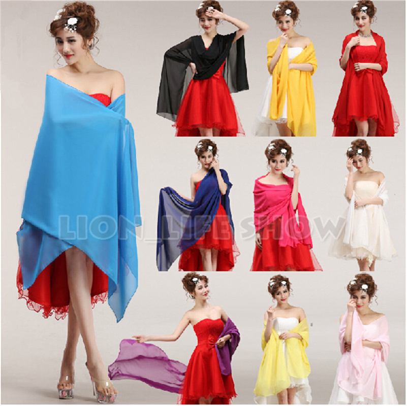 Chiffon Shawls   Scarves     Wrap   For Wedding/Bridesmaid/Formal Cocktail Evening Dress