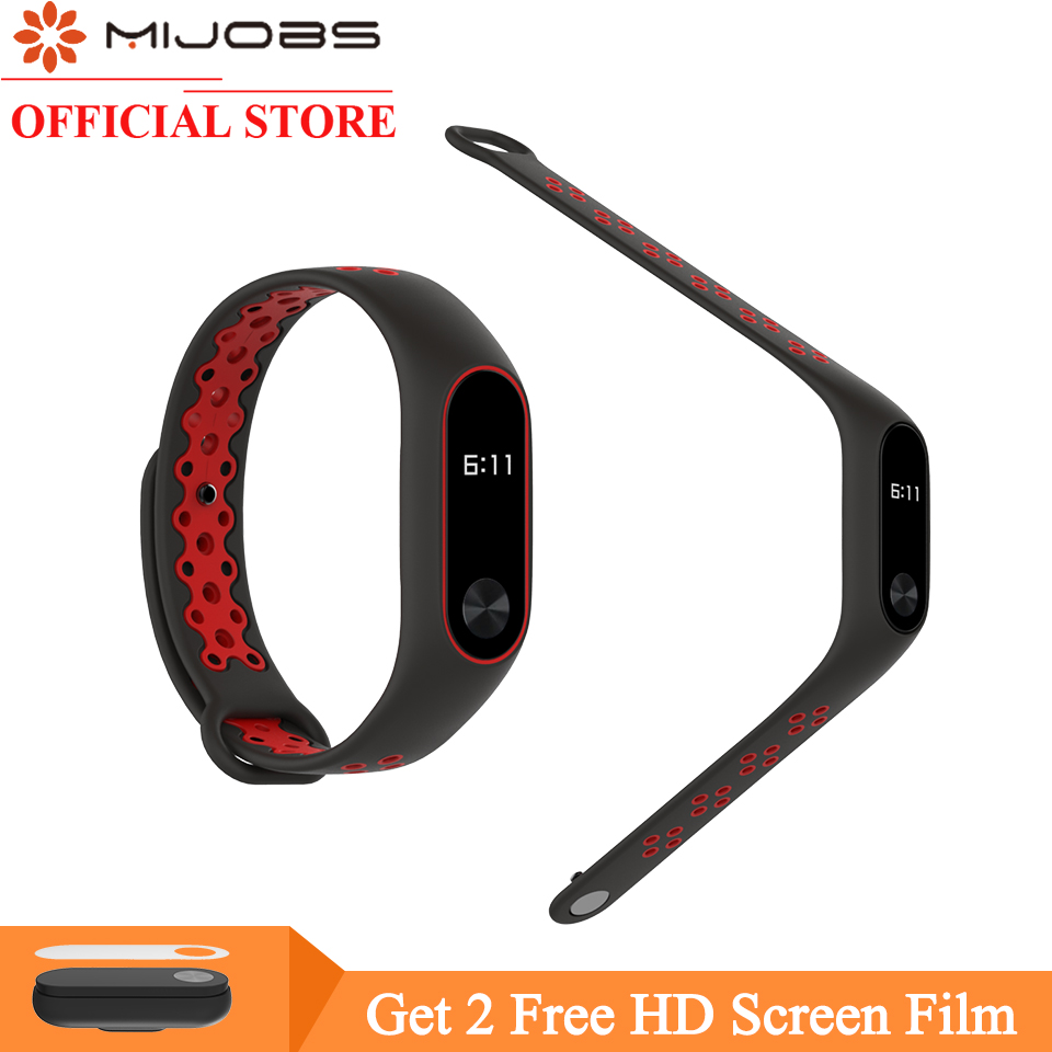 Mijobs for Xiaomi Mi Band 2 Strap Miband 2 Bracelet Sport Wristband Replacement Smart Band Accessories For Mi Band 2 Silicone strap for xiaomi mi band 2 bracelet for xiaomi mi band 2 silicone wrist for mi band 2 smart accessories wristband replacement