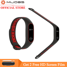 Mijobs for Xiaomi Mi Band 2 Strap Miband 2 Bracelet Sport Wristband Replacement Smart Band Accessories