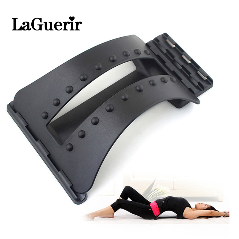 Back Massager Stretcher Fitness Massage Equipment Stretch Relax Stretcher Lumbar Support Spine Pain Relief Chiropractic Dropship(China)