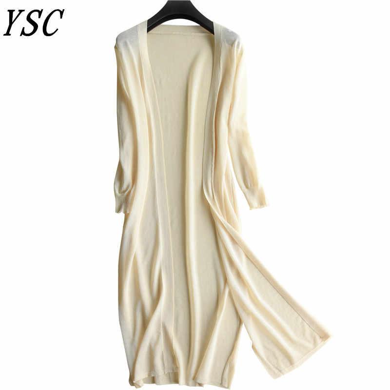 YUNSHUCLOSET 2018 nuevo diseño cárdigan de mezcla de algodón agradable fresca camisa de punto párrafo corto chal cárdigan