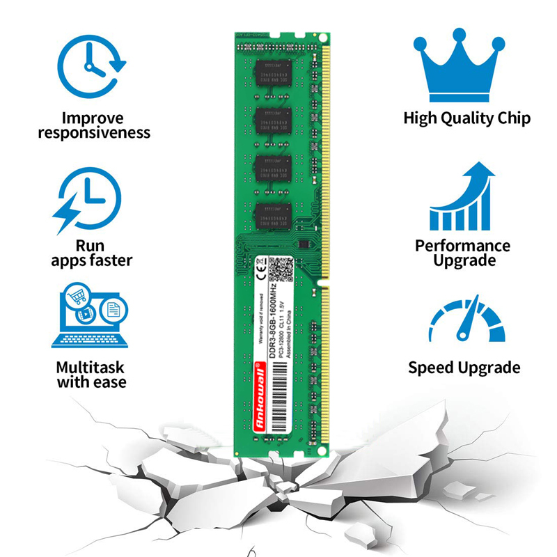Ankowall DDR3 8GB/4GB 1600MHz/1333MHz Desktop RAM Memory 5