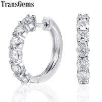 Трансвеститы Платиновое Покрытие стерлингового серебра 1.8ctw 3,5 мм H цвет Moissanite имитация бриллиантовые серьги кольца для женщин ювелирные из