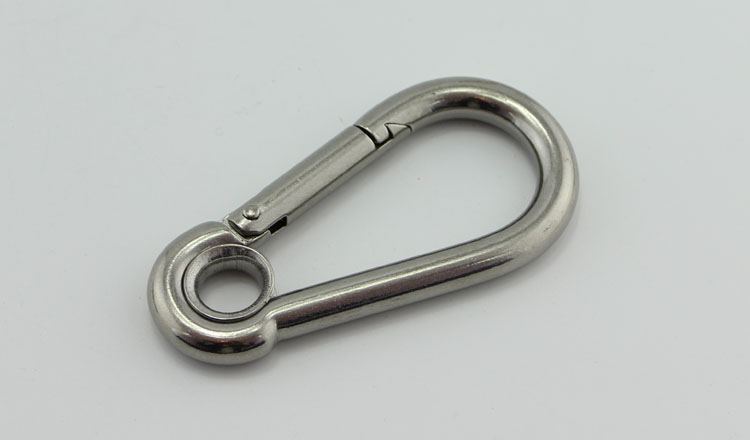 8mm STAINLESS STEEL SPRING SNAP HOOK CARABINER MOUNTING SHADE SAIL