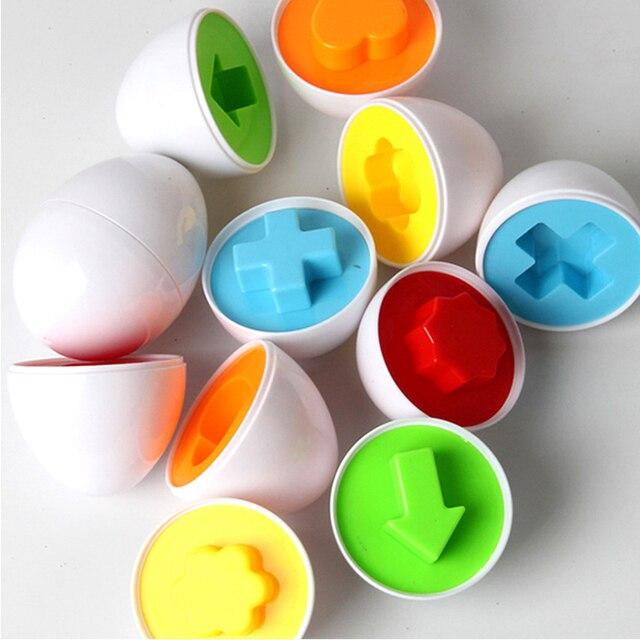 6 Sztuk Jaj Kształceniem Zabawki Dzieci Mieszane Kształt Wise Udawaj Puzzle Inteligentne Dziecko Kid Learning Zabawki Narzędzia Mózgu Gry