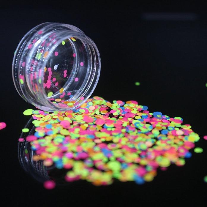 1 коробка блестящие круглые ультратонкие блестки Красочные Блестки для дизайна ногтей УФ гель 3D декоративный Маникюр DIY аксессуары NR234 - Цвет: 2