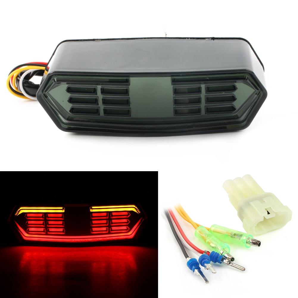 Smoked LED Brake Tail Light Integrated Turn Signal Lights For Honda Grom 125 MSX125 CB650F CBR650F CTX700 CTX700N 2014 2018|  - title=