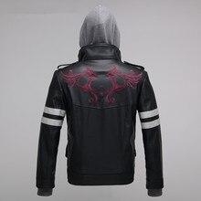 Высокое качество прототип Alex Mercer Косплей Костюм вышитая куртка PU кожаное пальто костюмы на Хэллоуин для женщин/мужчин S-4XL
