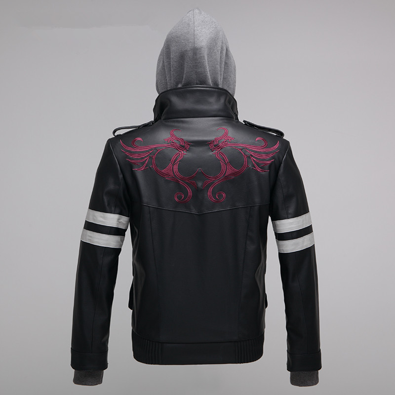 High Quality New Prototype Alex Mercer Cosplay Costume Embroidered Jacket PU Leather Coat Halloween Costumes For Women/Men S-4XL
