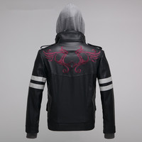 High Quality New Prototype Alex Mercer Cosplay Costume Embroidered Jacket PU Leather Coat Halloween Costumes for Women/Men S 4XL