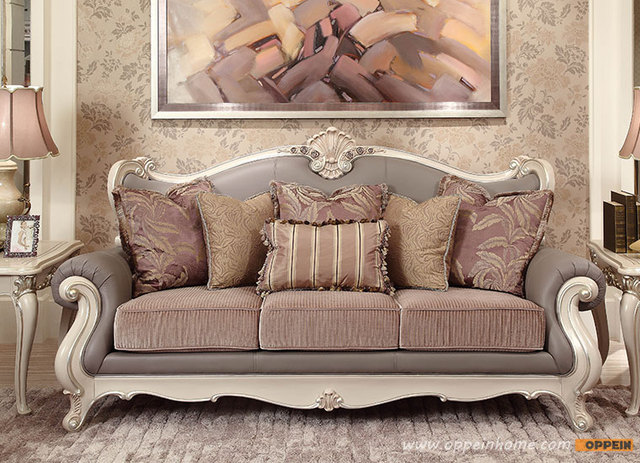 classic sofa cowhide pillows antique luxury royal style king product in china of furniture factory oppein italy os 0314057