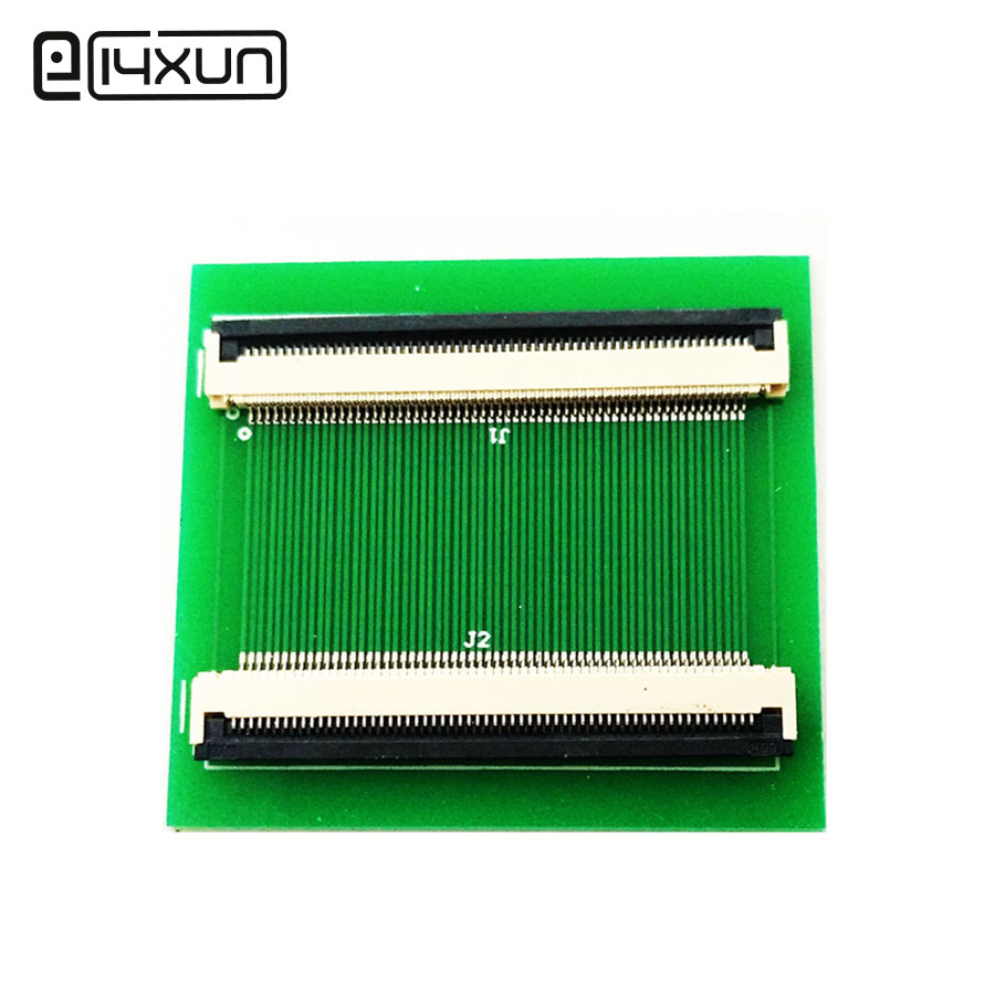 1pcs <font><b>60Pin</b></font> FFC FPC Adapter Plate 0.5MM Pitch Down Drawer SMD Flat Cable Socket Double Row <font><b>Connector</b></font> image