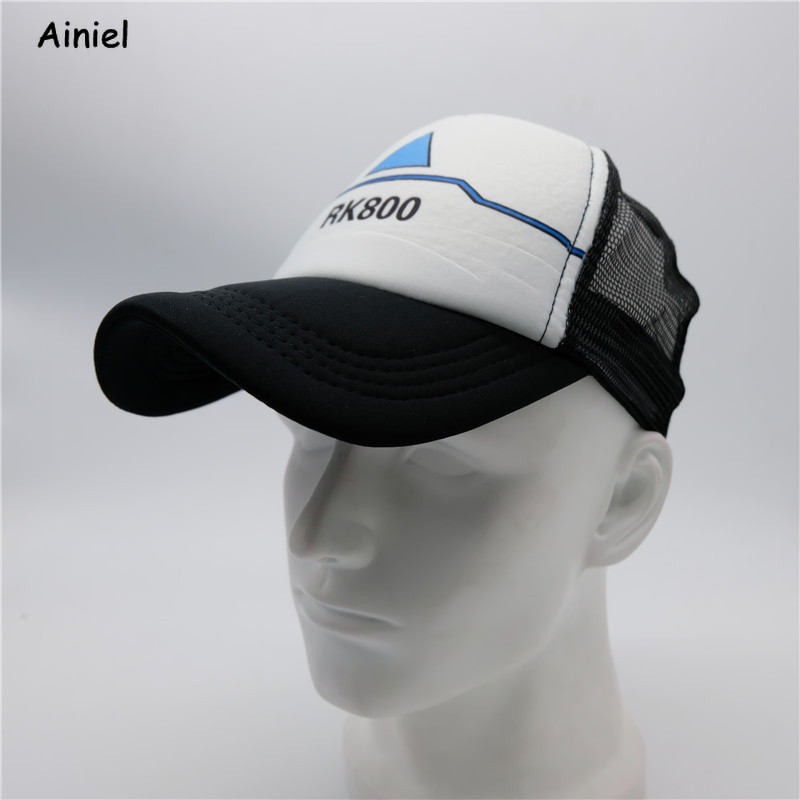 Detroit:Become Human Hat Topee Caps Visor Adjustable Cosplay Costumes Topee Hip Hop Unisex Sun Baseball Caps Adjustable Hat Men
