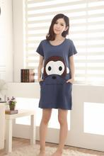 Free Shipping2016 New  summer style Nightgown Nightdress pijama Ladies Sleepwear Women nightwear AZ817