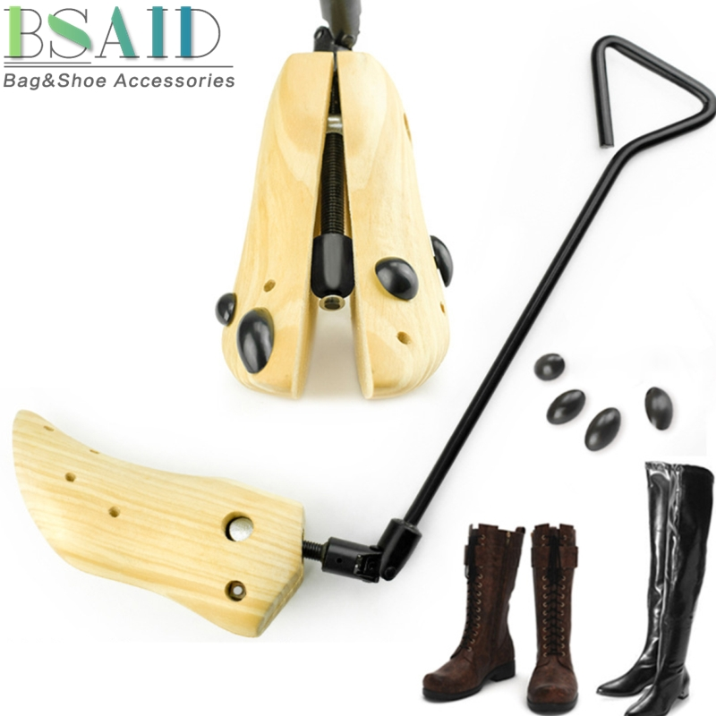 BSAID 1PCS Long Boots Shoe Stretcher Wooden Shoes Tree Rack Holder Shaft Boots Shaper Supporter Adjustable Shoe Expander Support