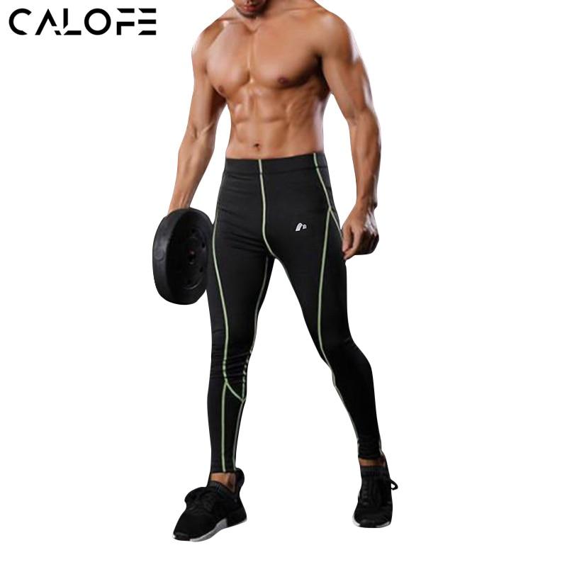 CALOFE Mens Sport Training Exercise Pants Men Compression Breathable Capri Pants Running Fitness Gym Pants Quick Dry Elastic