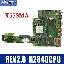 Amazoon X553MA с N2840CPU материнская плата REV2.0 для ASUS F503M X503M F553MA X503MA D503M X553MA Материнская плата ноутбука тестирование работы