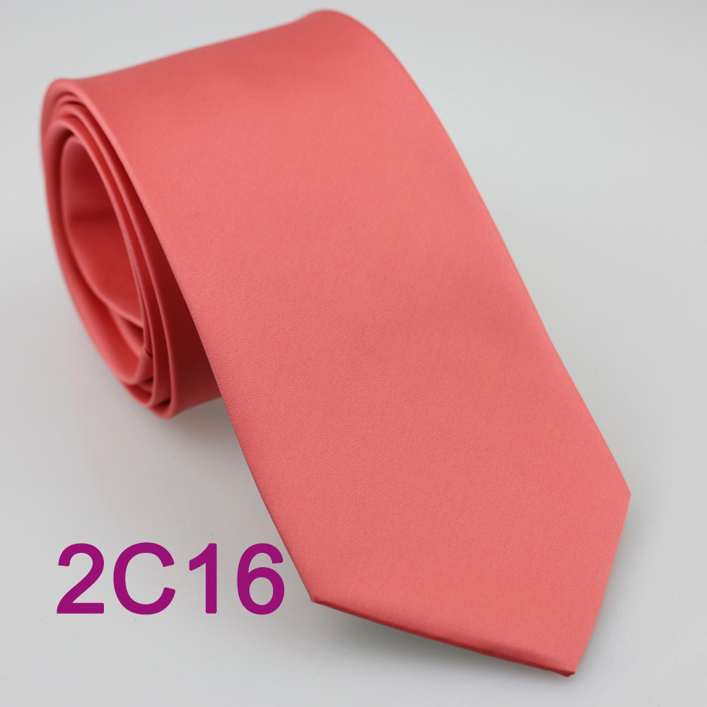 New polyester solid men/'s full ASCOT cravat necktie set wedding prom Coral
